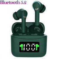 Wireless Earphones Bluetooth 5.2 Earbuds IPX7 Waterproof LED TWS Noise Canceling