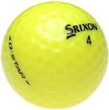 60 AAA Srixon Q Star yellow Used Golf Balls + Tees