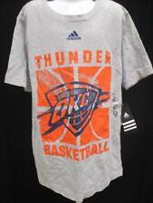 New Oklahoma Thunder Youth Size M Medium (10/12) Grey Shirt Adidas MSRP $20