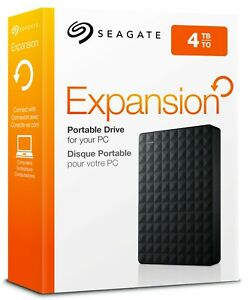 Seagate - Expansion 4TB External USB 3.0 Portable Hard Drive XBOX PS5 PC HDD 4TB