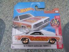 Hot Wheels 2017 # 087/365 1968 PLYMOUTH BARRACUDA Fórmula S Blanco HW llamas
