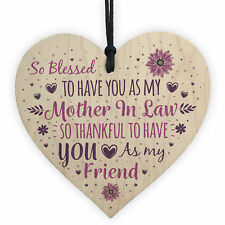 Mother In Law Friendship Gift Wedding Mother Of Groom Bride Thank You Plaque