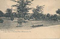 WILLIAMSPORT PA – Brandon Park View Rotograph Postcard – udb (pre 1908)