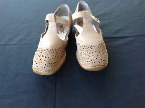 Rieker Antistress Shoes - Size 38 - beige