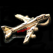 3D AEROPLANE 24k GOLD Layered Charm / Pendant + LIFETIME GUARANTEE