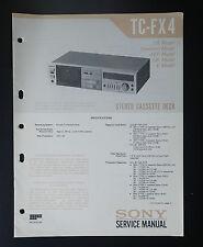 Sony tc-fx4 Original Service-Manual/Servizio-Istruzioni/schema elettrico