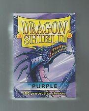 (100) Dragon Shield Purple Protective Sleeves Sealed Magic MTG FREE SHIPPING