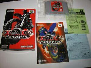 Excitebike 64 Nintendo 64 N64 Japan import Boxed + Manual CIB US Seller