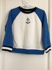 Janie and Jack boys 4 multi color embroidered anchor long sleeve sweatshirt