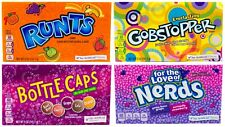 4x Variety Packs - Runts/ Gobstopper/ Bottle Cap/ Nerds Candy Theater Box Sweets