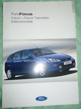 Ford Focus Futura2 & Futura2 Telematics brochure Feb 2001 German text