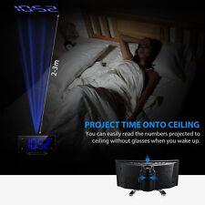 Digital Alarm Clock LED Wall/Ceiling Projection Digital FM Radio Curved Screen