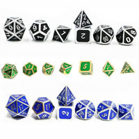 Dungeons&Dragons Dice Gambling Tools Metal Embossed DND MTG D&D Gifts Creative