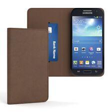Tasche für Samsung Galaxy S4 Mini Vintage Cover Handy Schutz Hülle Case Braun