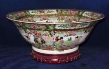 """Zhongguo Zhi Zao, China, ROSE MEDALLION, Hand Painted, Centerpiece Bowl, 13 3/8"""""""