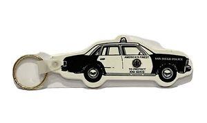 Plastic San Diego Police Keychain Police Car