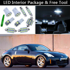 5PCS Bulbs White LED Interior Car Lights Package kit Fit Nissan 350Z 03-2008 J1
