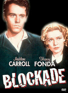 Blockade DVD 1938 Henry Fonda, Madeleine Carroll - Rare War REGION 1 USA