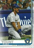 2019 Topps Update ROBIN YOUNT SP Photo Variation Legends BREWERS #US168
