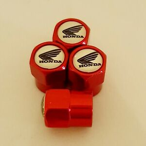 HONDA metal Wheel Valve Dust caps all models Red 5 colors Xmas stocking SP Shine