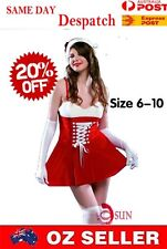 WOMENS SEXY LINGERIE Xmas Christmas Santa Claus Dress Bandage COSTUME Halloween