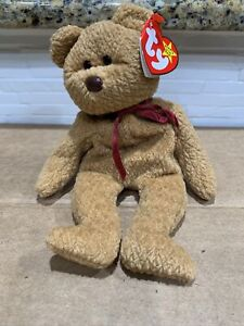 TY Beanie Baby Curly The Bear April, 12 (1996) (8.5 inches) Retired