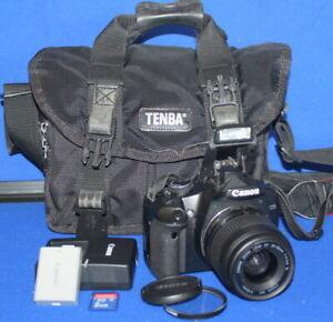 Canon EOS Rebel XSI 12.2MP Digital SLR DSLR Camera W/ 35-80MM Lens
