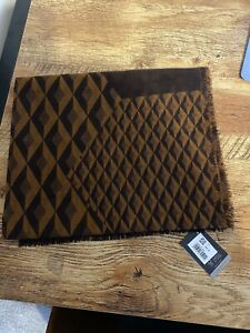 Dunhill Scarf Men's 100% Wool 60cmx200cm Engine Turned BNWT RRP £195