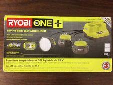 Ryobi P785 ONE+ 18V (18 / 110 Volt) HYBRID LED Cable Light, 1,500-Lumens