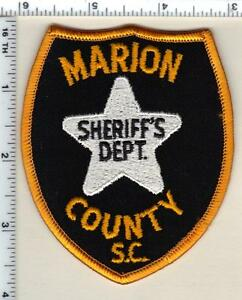 Marion County Sheriff's Dept (South Carolina) Shoulder Patch new from 1987