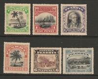 Penrhyn Island 1920 Set Gibbons#32-37 Mint No Gum