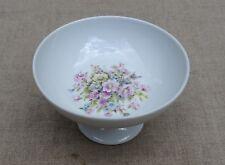 Coupe sur pied  porcelaine Limoges décor fleurs