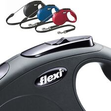 Flexi Dog Lead Cord, Tape Classic Style Retractable Dog Lead 5m Large Small Med