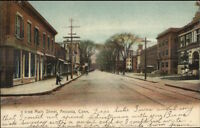 Ansonia CT c1910 Postcard MAIN STREET bck
