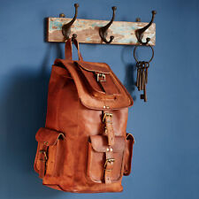 Fair Trade Handmade Large Brown Leather Rucksack - 2nd Quality