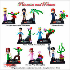 Nouveau princesses & Prince Custom minifigures. set de 8 chiffres. plus disponibles. UK