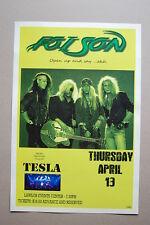 Poison Concert Tour Poster1989 Lawlor Events Center Tesla