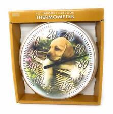 "Springfield Thermometer 12"" Indoor / Outdoor Puppies"