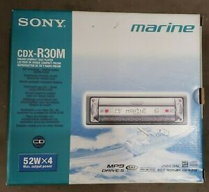SONY CDX-R30M  MARINE MP3 DRIVE-S STEREO DETACHABLE FACEPLATE  NEW