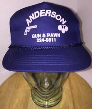 VTG ANDERSON GUN & PAWN Shop Anderson SC 80s 90s LOCAL Hat Cap Zipperback