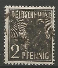 TIMBRES-ALLEMAGNE-SOVIÉTIQUE ZONE. 1948. 2pf noir. Zeitz Michel: 166 IV. vérifié