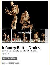 "Exclusive 1/6 Sideshow Star Wars INFANTRY BATTLE DROID 12""Figure Set THX1138 New"