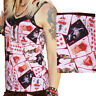 SPAGHETTI STRAPS Gothic Vest Top EVIL PLAYING CARDS Alternative Goth  Emo Punk