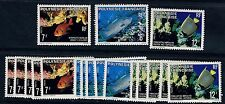French Polynesia Scott 327 - 329 FISH - Wholesale lot of 6 sets