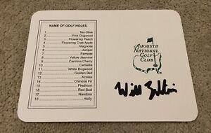 Will Zalatoris Signed Masters Scorecard Golf Pga Tour Proof