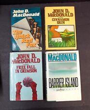 Vintage HC Book 4 Lot John D MacDonald The Quick Red Fox Cinnamon Skin Free Fall