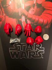 Hot Toys Star Wars Guardia pretoriana DB manos X 6 & Clavijas Suelto Escala 1/6th