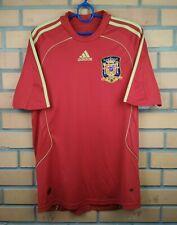 Spain soccer jersey small 2008 2009 home shirt football Adidas