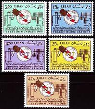 Líbano Lebanon 1966 ** mi.935/39 telecomunicaciones Telecommunication