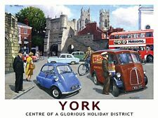 York, A Glorious Holiday District - Large Metal Sign  300mm x 400mm (og)